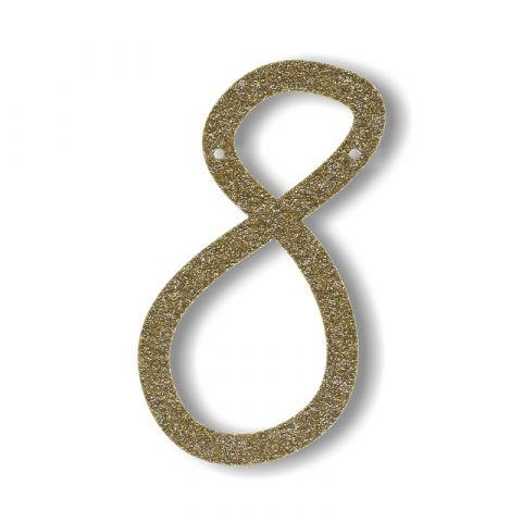 Gagliardetto Acrilico Gold Glitter 8