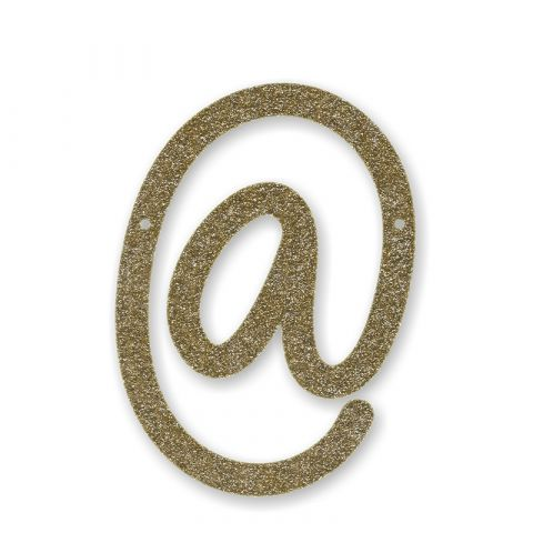 Gold Glitter Full Stop Acrylic Bunting