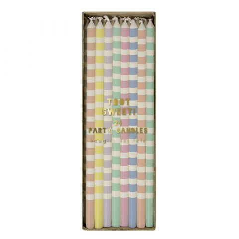 Pastel Party Candles