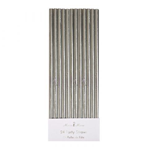 Silver Foil Party Straws