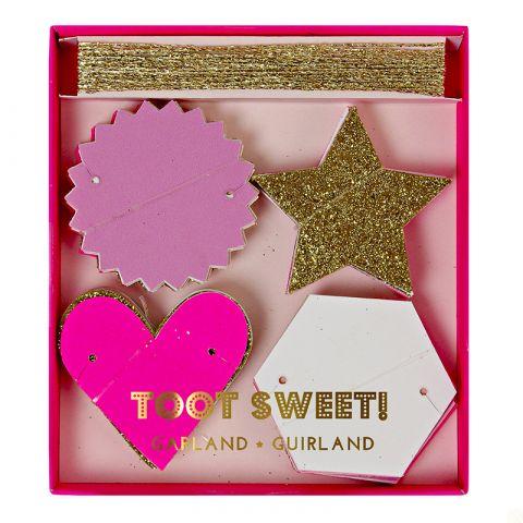 Toot Sweet Pink Mini Garland