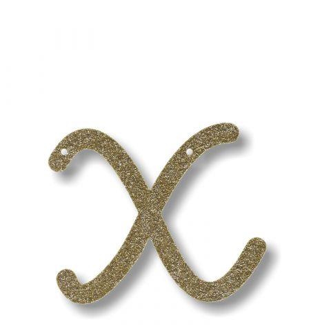 Gold Glitter 2 Acrylic Bunting
