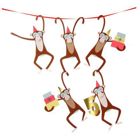 Five Monkeys Fifth Birthday Card