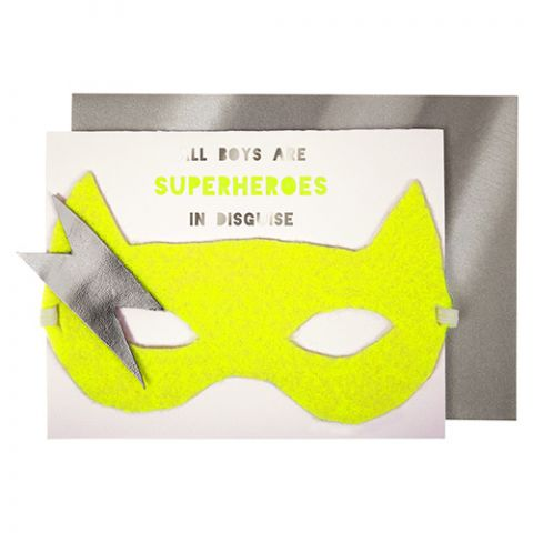Boy Superhero Birthday Card
