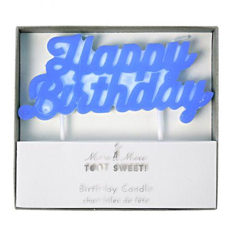 Blue Happy Birthday Candle from Meri Meri :: Baby Bottega