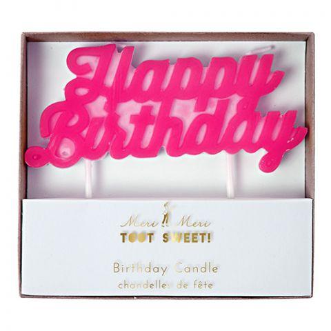 Candelina Rosa Toot Sweet Happy Birthday