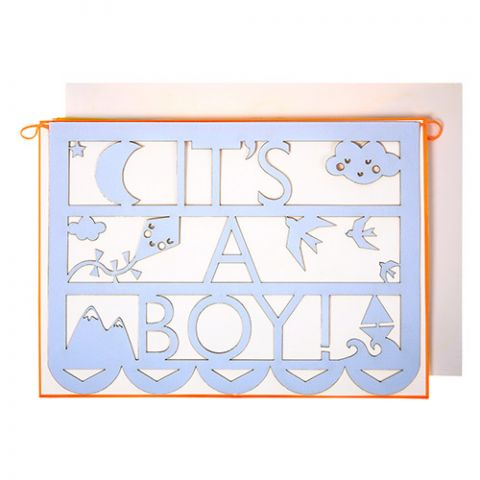 It's a Boy Cut-Out Card