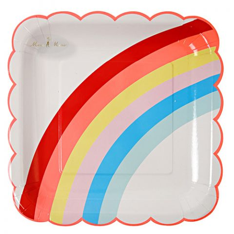 Rainbow Large Plates from the Meri Meri Collection