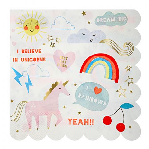 Large Unicorn Party Napkins from Meri Meri
