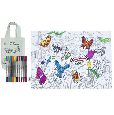 Butterfly Doodle Pillowcase from Eat Sleep Doodle :: Baby Bottega