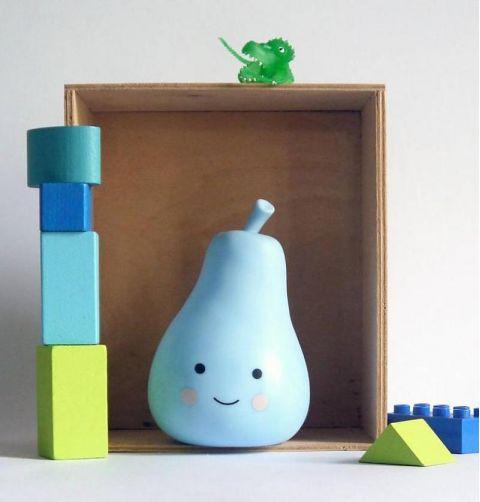 Mini Lampada Pera Blu
