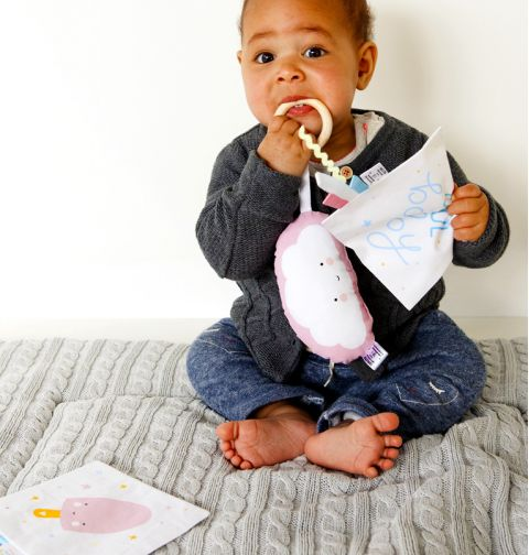 Pink Pear Rattle from A Lovely Little Company :: Baby Bottega