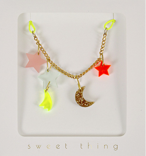 Stars & Moon Necklace from Meri Meri :: Baby Bottega