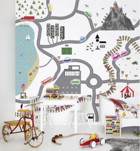 Murale Carta da Parati Home Town