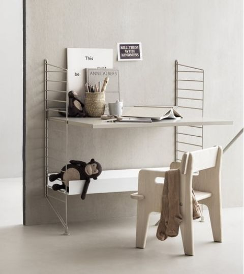 String System Child's Desk 80 X 85 cm from String Furniture :: Baby Bottega