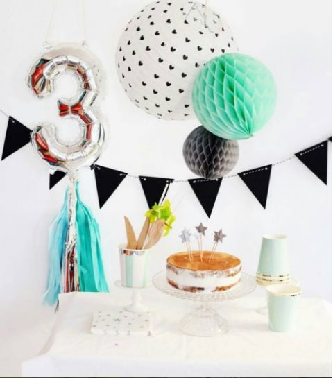 Silver Foil Number Balloon