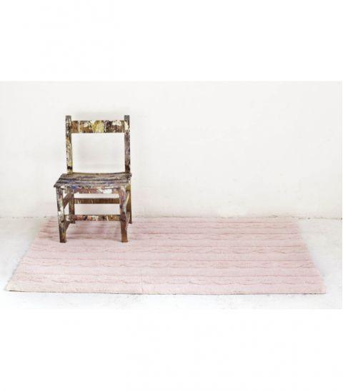 Trenzas Soft Pink Large Washable Rug