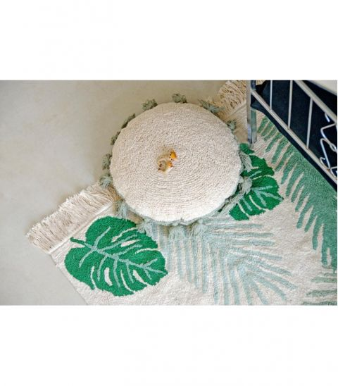 Tropical Green Washable Rug