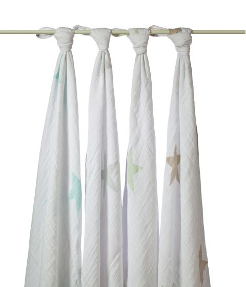 Set 4 Copertine Swaddle Super Star Scout