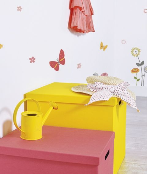Stickers Per Bambini.Flowers Wall Sticker