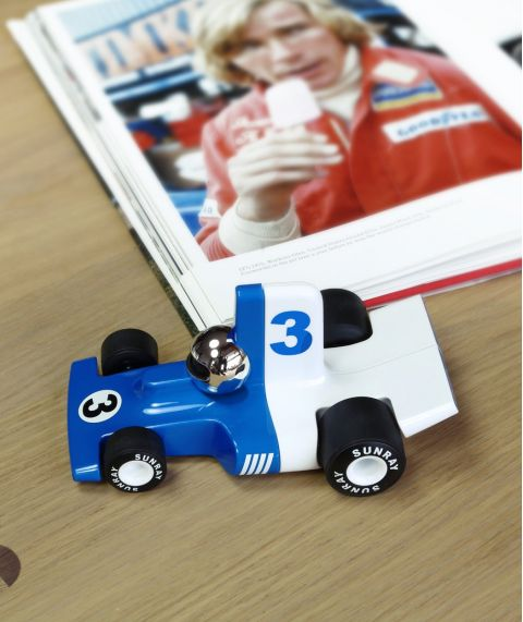 Verve Velocita Lorenzo, a blue race car from Play Forever :: Baby Bottega