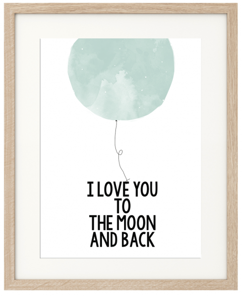 Blue To The Moon Poster