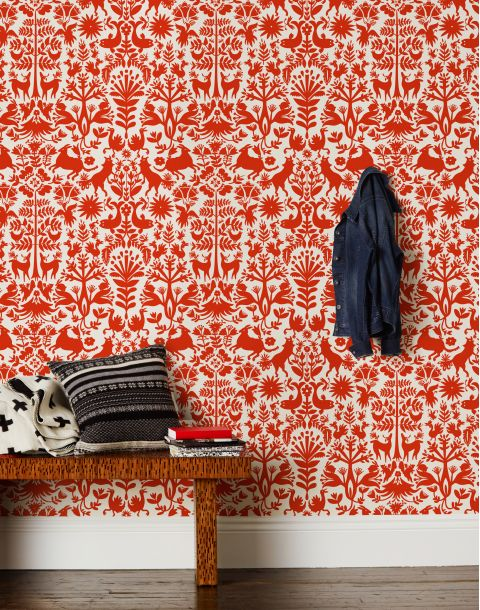 Otomi Red Wallpaper