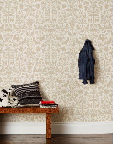 Otomi Taupe Wallpaper