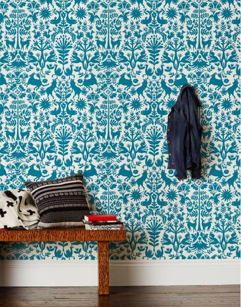Otomi Turquoise Wallpaper