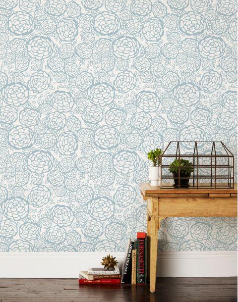 Petal Pusher Blue Wallpaper
