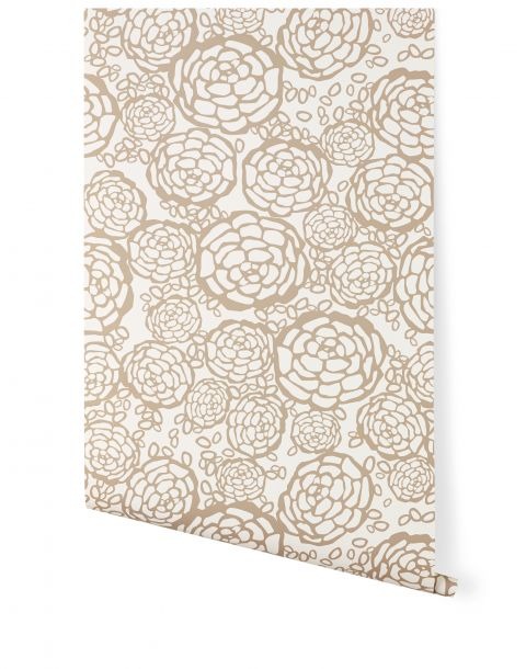 Carta da Parati Petal Pusher Taupe