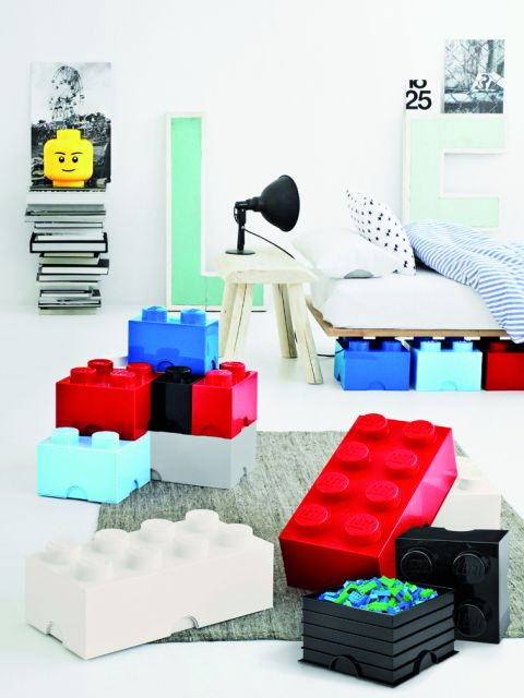 Lego Storage Brick Red Ambiance