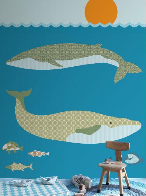 Wallpaper Mural Whales