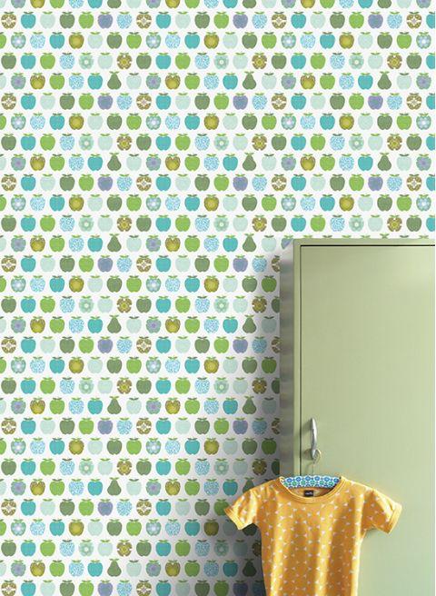 Wallpaper Mural Green Apples