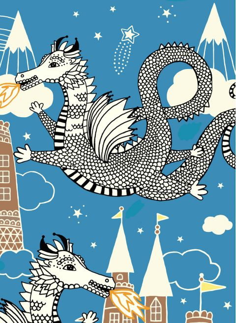 sky dragon poster majvillan baby bottega dettaglio