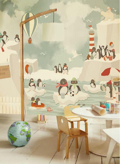 Murale Carta da Parati Pinguini