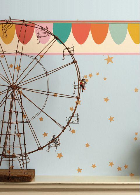 Bordo Carta da Parati Scaramouche Chalky Pastels