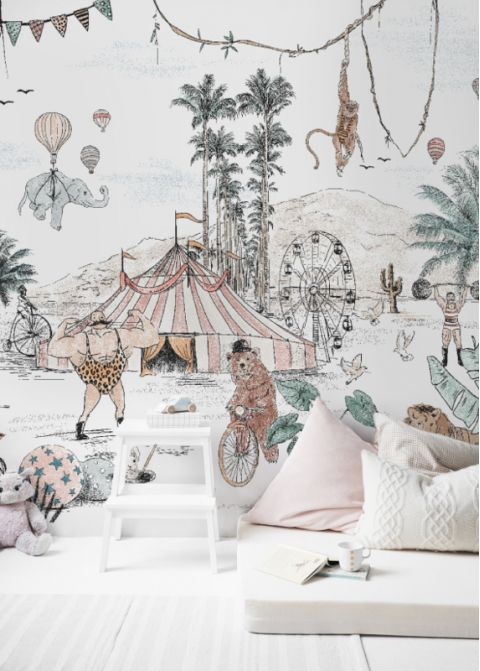 Cirque du Fantasy mural available online at Baby Bottega