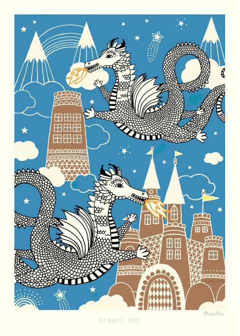 sky dragon poster majvillan baby bottega