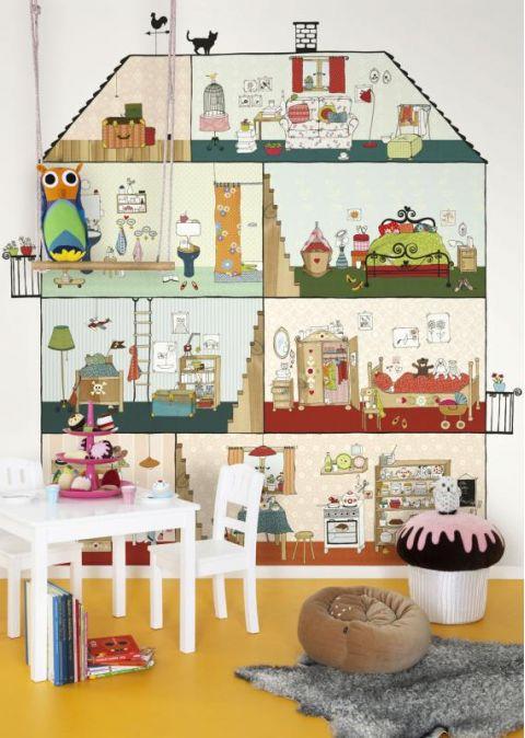 Murale Carta da Parati Home Sweet Home
