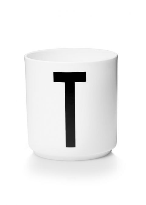 Personal Melamine Cup - T from Design Letters :: Available online Baby Bottega