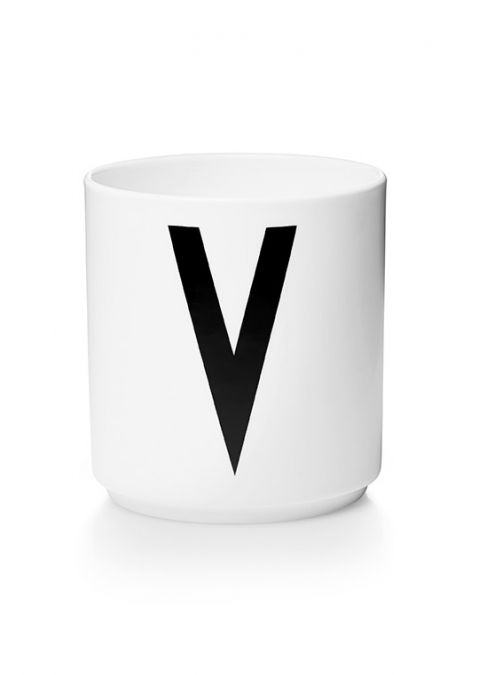 Personal Melamine Cup - V from Design Letters:: Available online Baby Bottega
