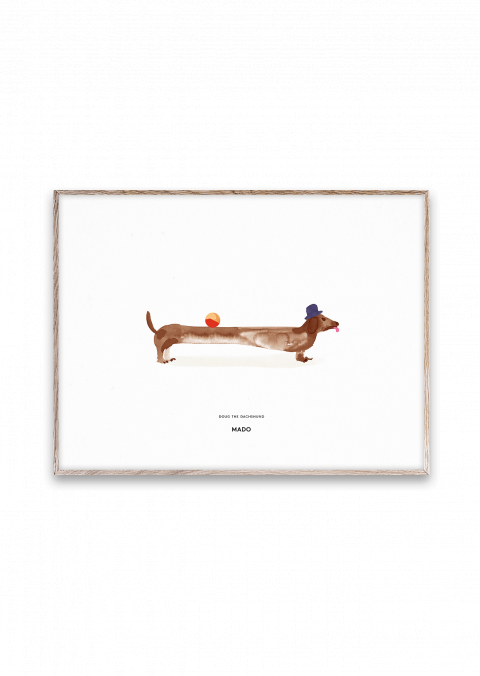Doug the Dachshund poster without frame from MadoMado :: Baby Bottega