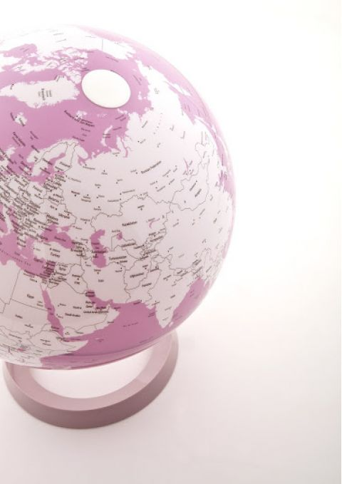world map globe coral nightlight table light atmosphere baby bottega detail