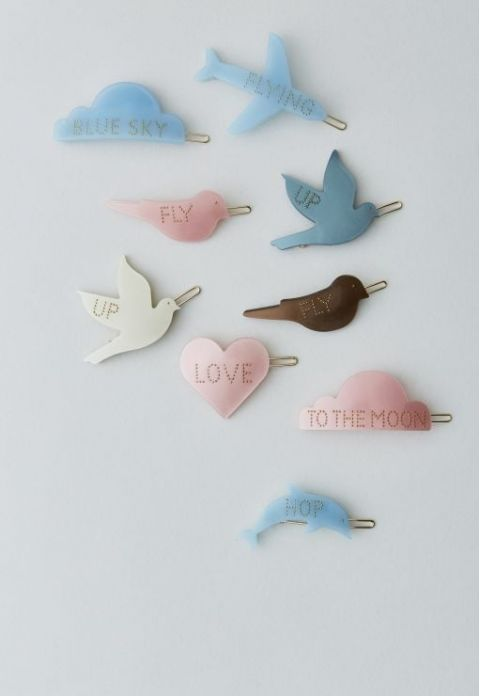 Heart-shaped hair clip with Love from Design Letters :: Baby Bottega