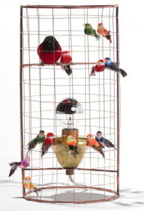 lampada da tavolo voliere uccellini baby bottega firenze dettaglio