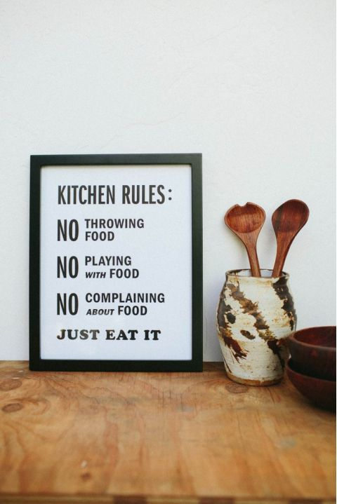 Poster Kitchen Rules