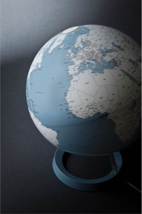 world map globe blue nightlight table light atmosphere baby bottega detail