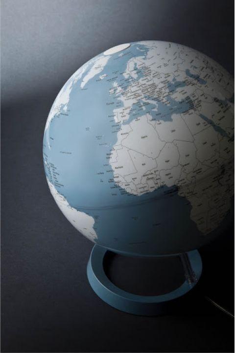 mappamondo globo blu luce di notte tavolo atmosphere baby bottega dettaglio