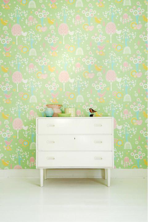 Cherry Valley Wallpaper Green